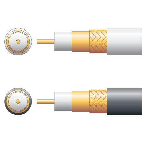 100U 75 Ohm Foam Filled CCA Braid Coaxial Cable Range | Quasar Electronics