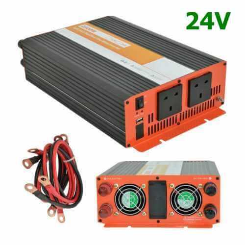 Power Inverter 24V to 230V | Compact Soft Start | Quasar Electronics