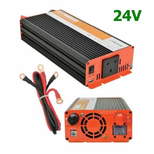 Pure Sine Wave Inverter 24V to 230V | Soft Start | Quasar Electronics