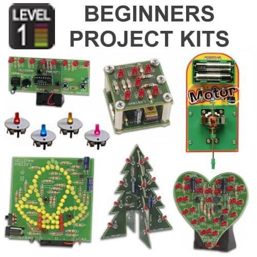 Beginners Electronic Project Kits   Level 1   Quasar UK