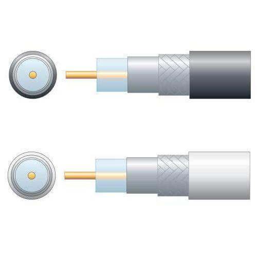 Economy RG6 75 Ohm Air Spaced Aluminium Braid Coaxial Cable Range