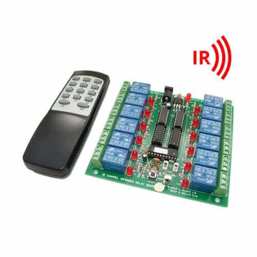 Infrared Activated Relay Board Electronic Project Kits Modules