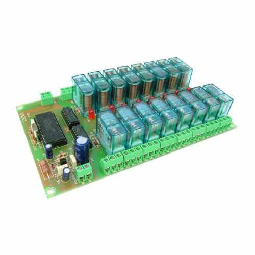 Multiplexed-BCD Controlled Relay Boards