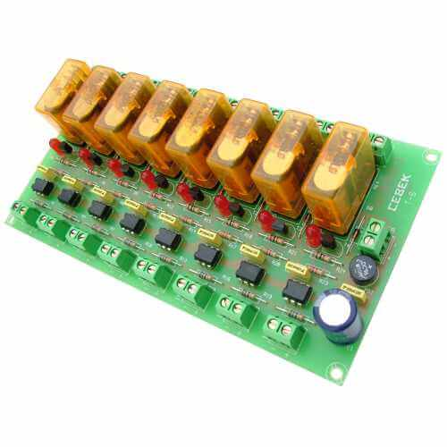 Opto Isolated Io Relay Board Electronic Project Kits Modules