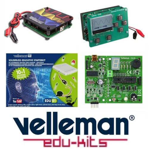Velleman EDUKITS Range | Official UK Main Dealer | Quasar Electronics
