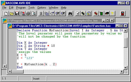 BASCOM-AVR WINDOWS BASIC COMPILER