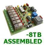 PRE-ASSEMBLED 8-Channel Telephone Activated Relay Board (Terminal Block Version)