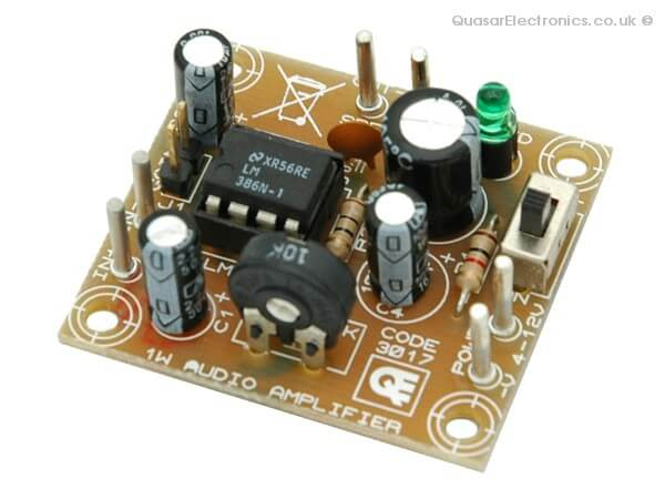 AS3017KT - 1W Mono Audio Amplifier with Volume Control (LM386)