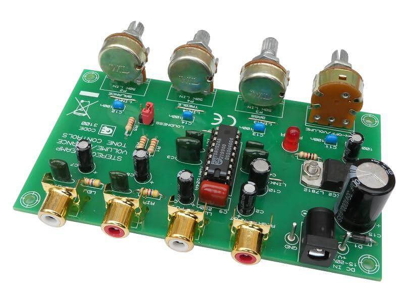 Stereo Preamplifier with Tone Controls (TDA1524A)