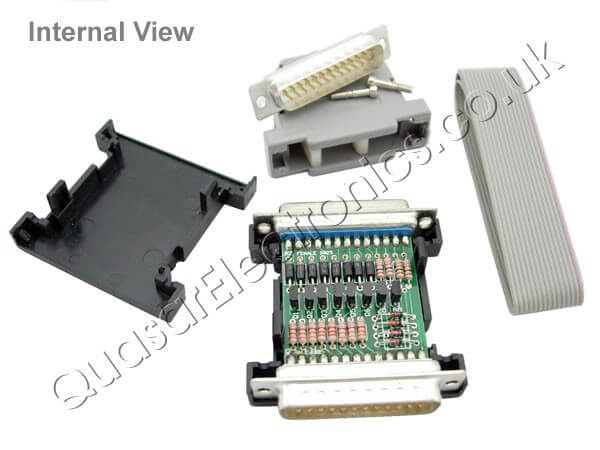 PC Controlled Dual Unipolar Stepper Motor Driver