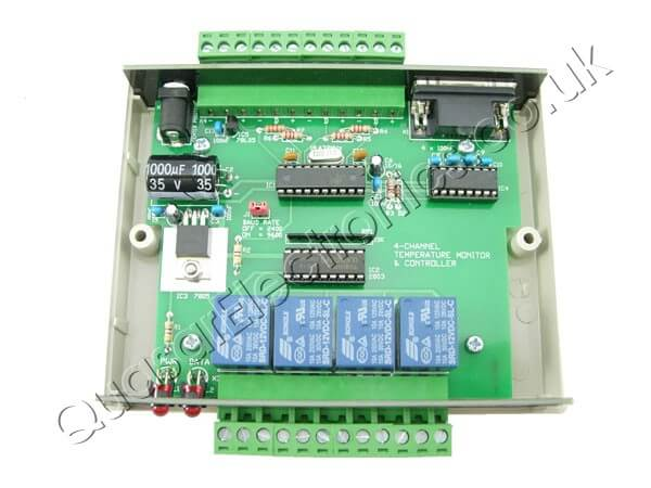 4-Ch Computer Temperature Monitor / Relay Control Board