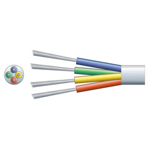 4-Core Alarm/Signal Cable TCCA Conductor, White, 100m Reel