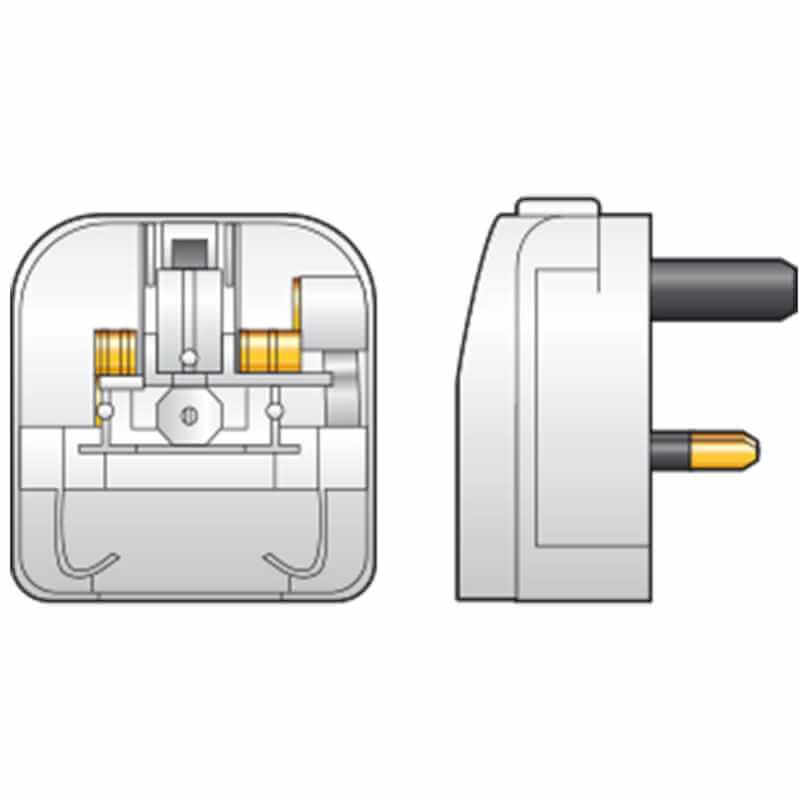 2-pin CEE7 Euro Plug to UK Converter Plug