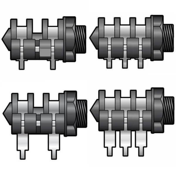 6.3mm Jack Chassis Sockets, Various Styles