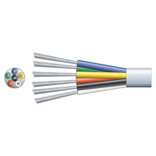6-Core Alarm/Signal Cable TCCA Conductor, White, 100m Reel