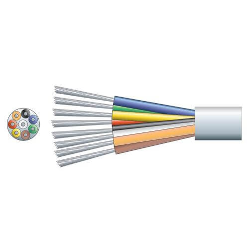 8-Core Alarm/Signal Cable TCCA Conductor, White, 100m Reel