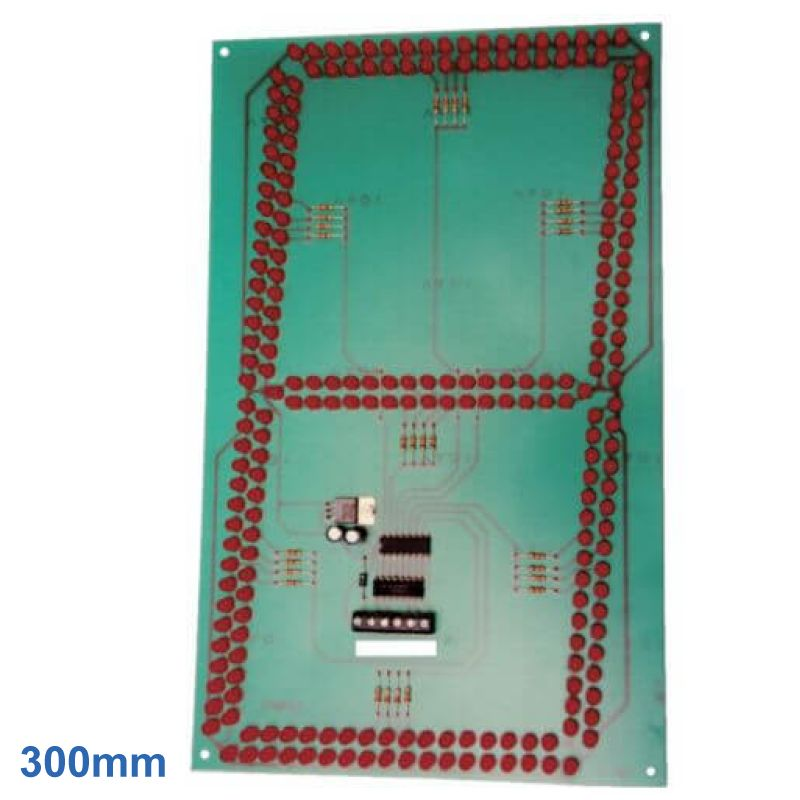 300mm High, 1-Digit, 7-Segment Red LED BCD Display Module