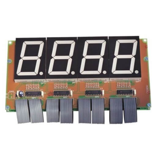 Digital LED Clock and Thermometer Display Module (58mm Digits)