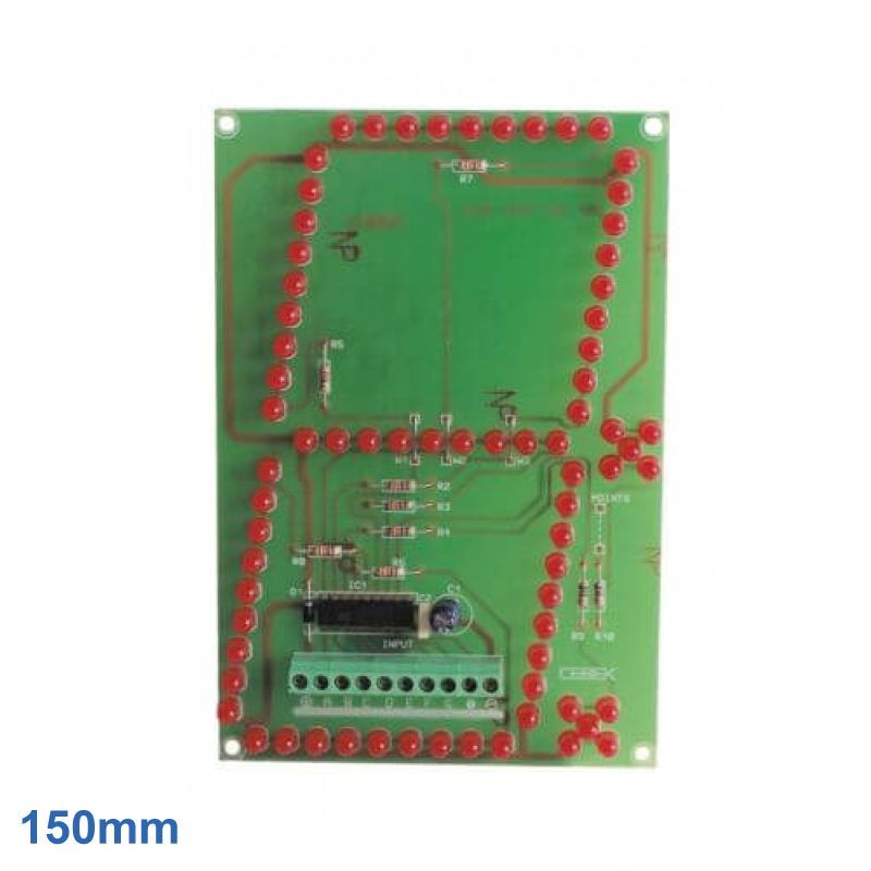 150mm High, 1-Digit, 7-Segment Red LED Display Module
