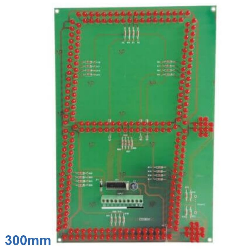 300mm High 1-Digit 7-Segment + 2 Dots Red LED Display Module