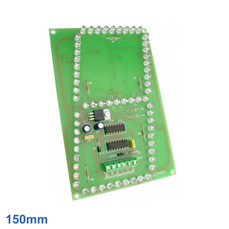 Cebek CD-28 (CCD028) - 150mm High, 1-Digit, 7-Segment SuperBright Red BCD LED Display Module