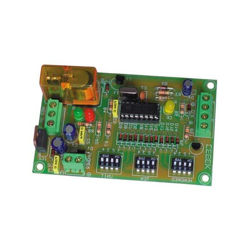 1-999 Industrial Counter Module with Preset and Relay