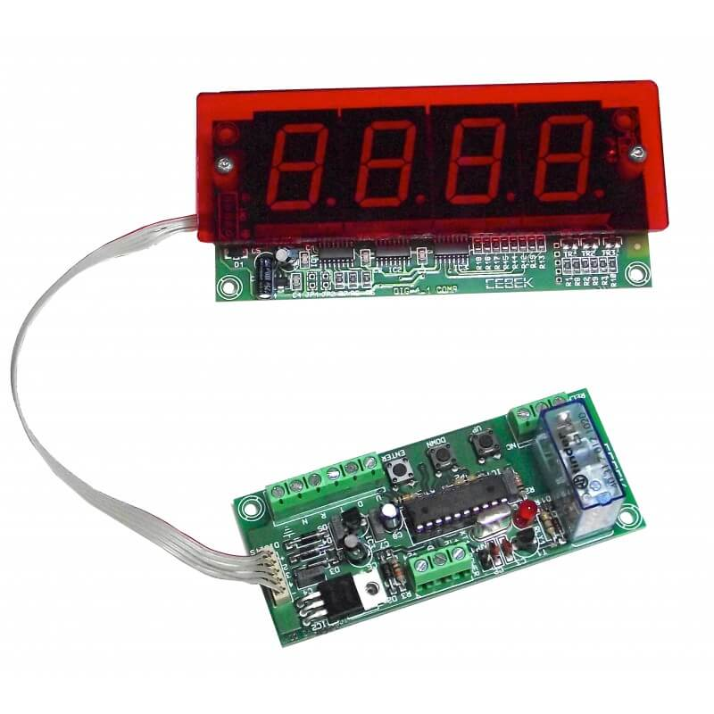 4-Digit Up/Down Counter Module - Preset and Relay (25mm Digits)