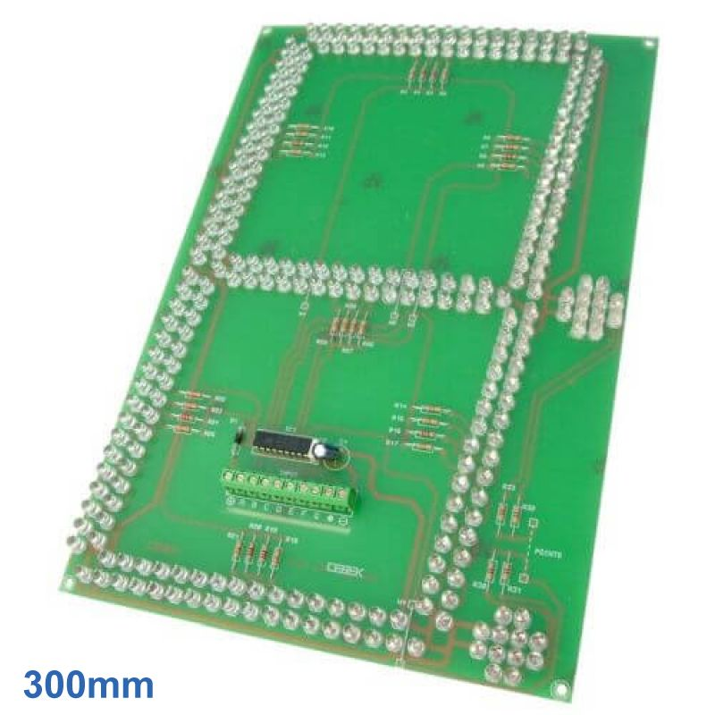 300mm High, 1-Digit, 7-Segment SuperBright Red LED Display Module