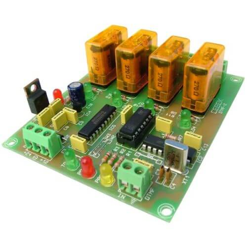 Cebek DTMF-2 (CDTMF2) - 4-Channel DTMF Receiver Relay Module