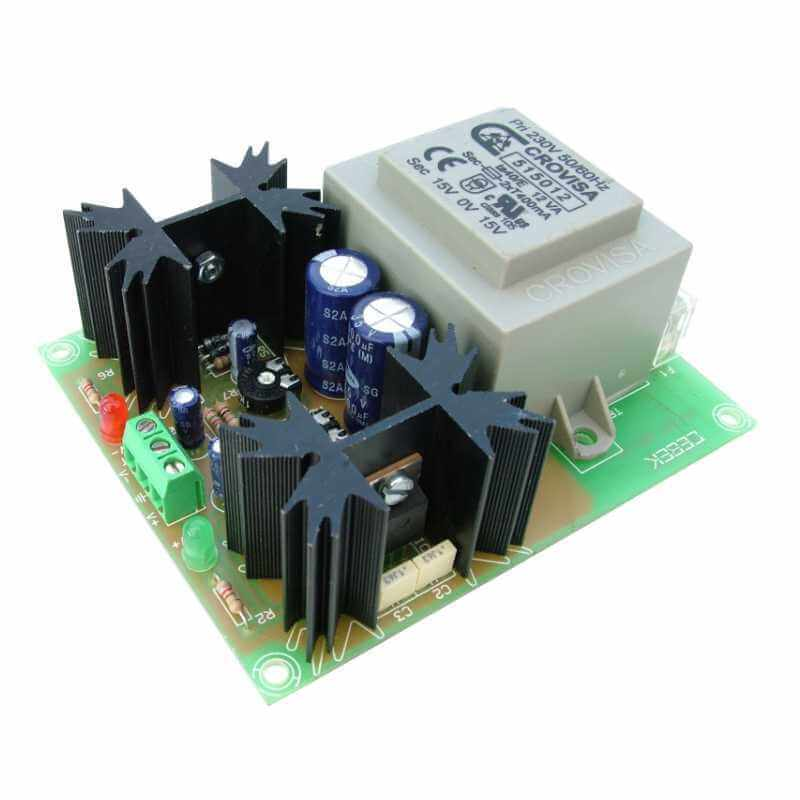 +/- 12V, 270mA Symmetrical Power Supply (230Vac Onboard Transformer)