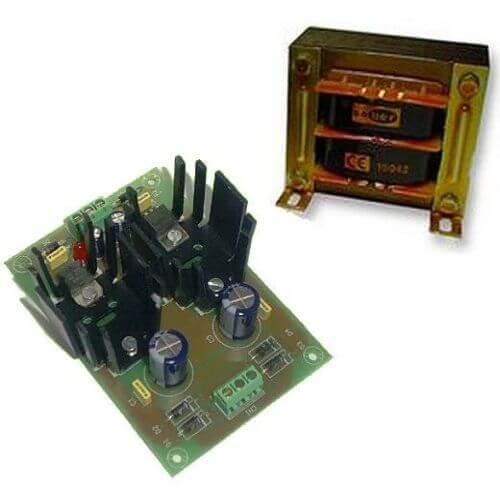Symmetrical Power Supply Module +/- 12V, 1A with 230Vac Transformer