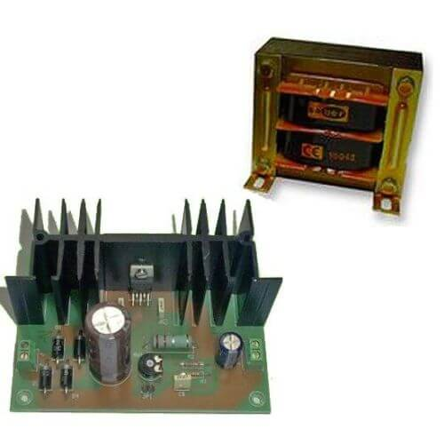 Power Supply Module, Variable 12-24Vdc, 2A with 230Vac Transformer