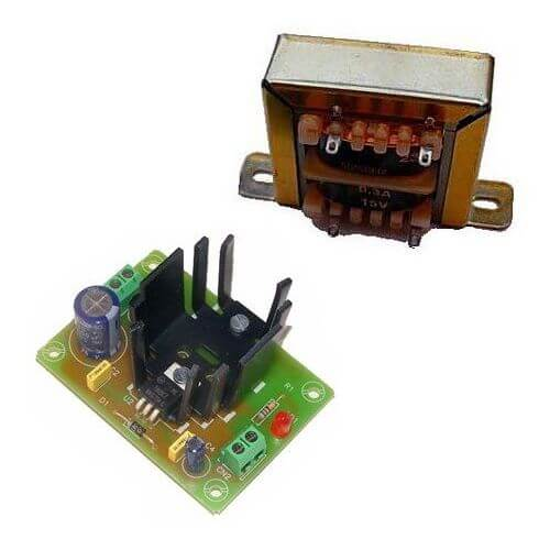 Power Supply Module, 15Vdc, 1A with 230Vac Chassis Transformer