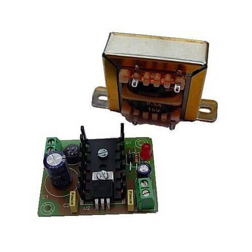Power Supply Module, 9Vdc, 300mA with 230Vac Chassis Transformer