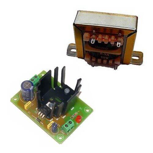 Power Supply Module, 9Vdc, 1A with 230Vac Chassis Transformer