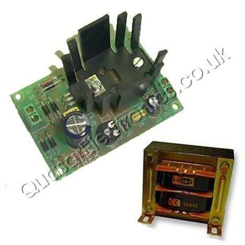 Power Supply Module, Variable 3-15Vdc, 0.5A with 230Vac Transformer