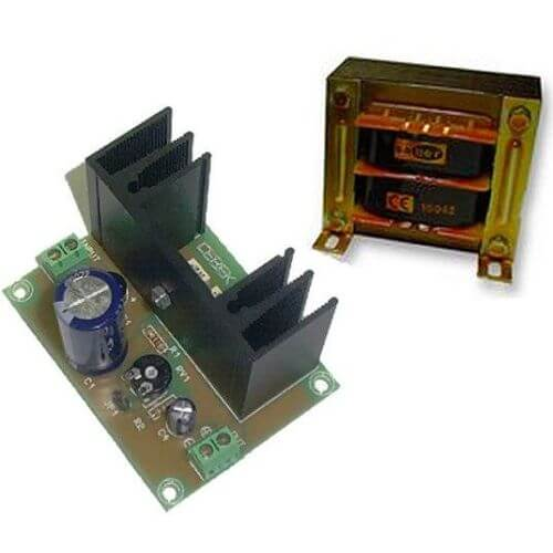 Power Supply Module, Variable 12-24Vdc, 1A with 230Vac Transformer