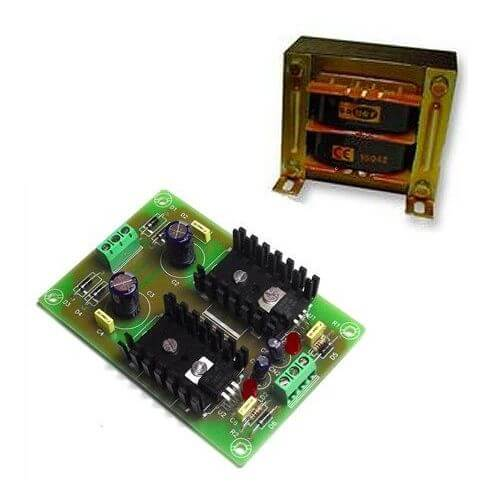 Symmetrical Power Supply +/- 12V, 500mA with 230Vac Transformer