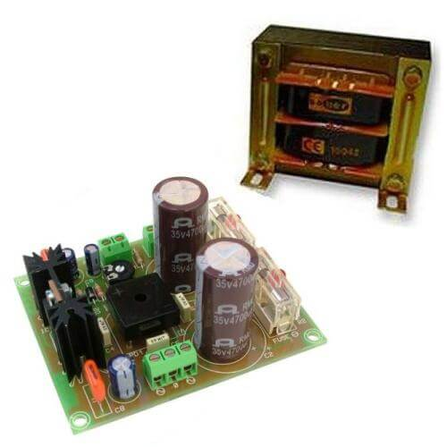 +/- 24V, 2A Dual Polarity Power Supply with 230Vac Chassis Transformer