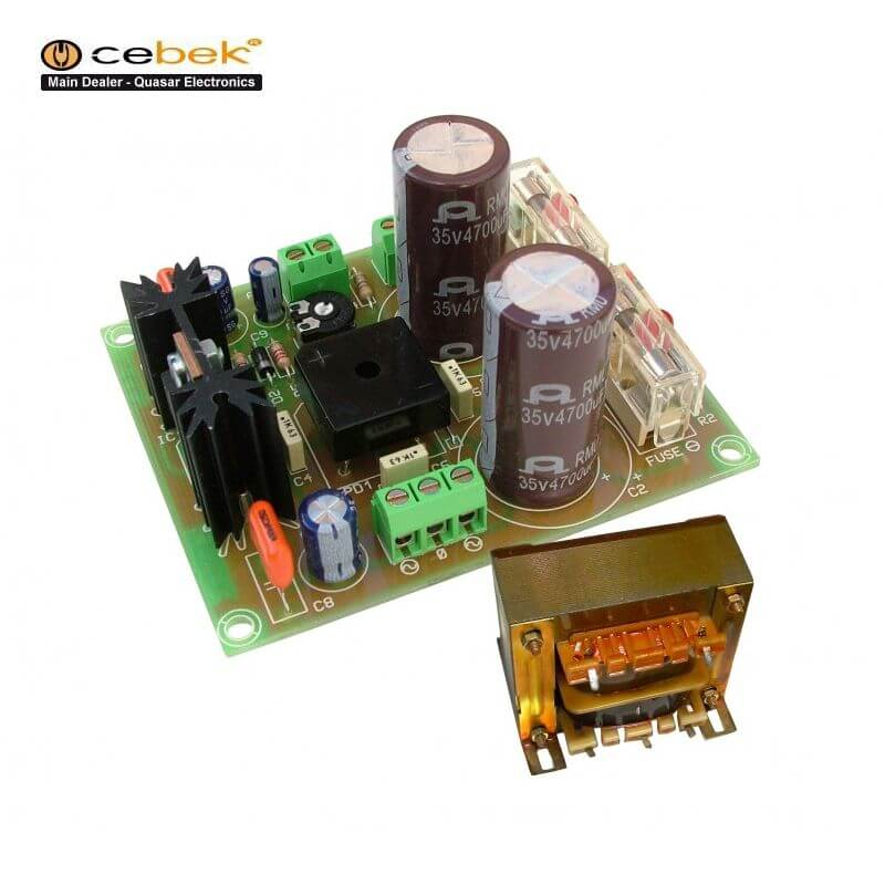 +/- 32V, 3A Dual Polarity Power Supply with 230Vac Chassis Transformer