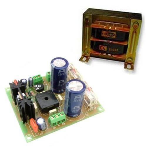 +/- 28V, 3A Dual Polarity Power Supply with 230Vac Chassis Transformer