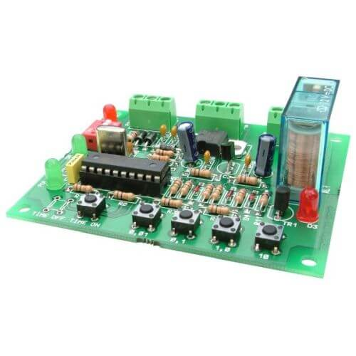 14-Mode Programmable Delay Timer Relay Board, 0.1s - 497 Days