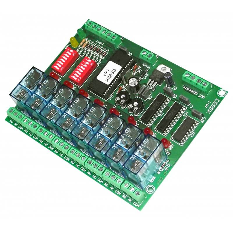 Cebek I-57 (CI057) - 8 Channel Flexible Sequential Relay Controller Module