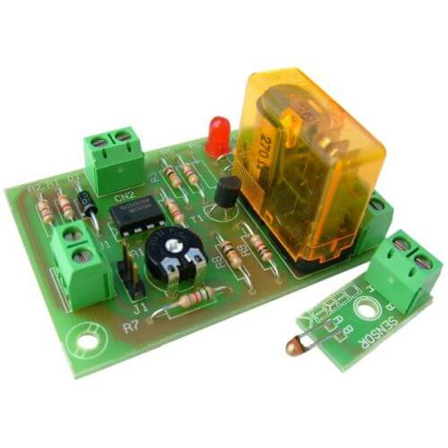 12Vdc Thermostatic Relay Module, -10 to +60°C