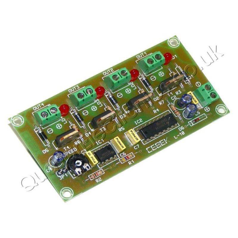 Cebek L-10 (CL10) - 12Vdc 4-Channel Sequential Light Controller Module