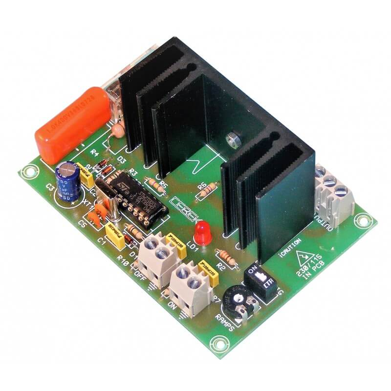 AC Motor Push-Button Speed Controller Module, 230Vac 50Hz, 1500W