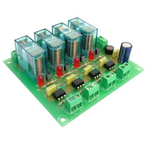 12Vdc 4-Channel Isolated IO SPDT Relay Board Module
