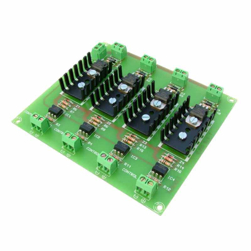 Cebek T-2 (CT002) - 4-Channel Isolated IO MOSFET Board Module