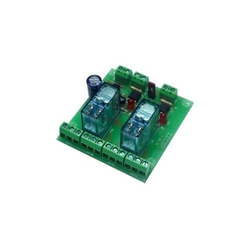 Cebek T-25 (CT025) - 12Vdc 2-Channel Isolated IO DPDT Relay Board Module