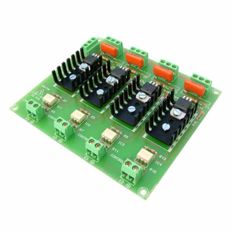 4-Channel Isolated IO 230Vac TRIAC Board Module